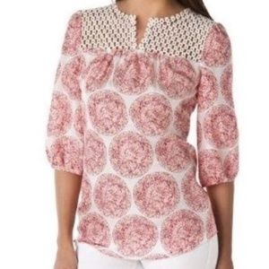 Calypso St.Barth For Target 100% Silk Blouse  D26